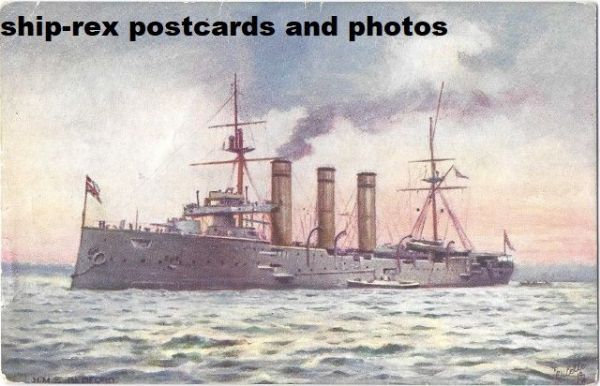 BEDFORD (1903, Royal Navy) postcard